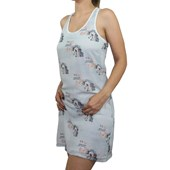 Vestido Country Cavalo Estampa Exclusiva Azul 6688 - SG